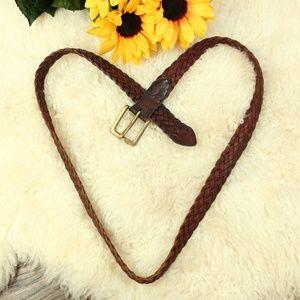 Brighton Brown Leather Braided Belt